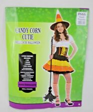 Candy Corn Cutie Ladies Juniors Halloween Costume Party Sz Small 3-5