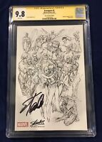 Avengers #1 Campbell SKETCH Variant CGC Signature Series 9.8 Signed by Stan Lee!