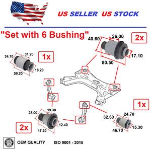 Front Bushing Subframe Mount For Nissan Sentra 2013-2019 Versa 2007-2012 Set 6x