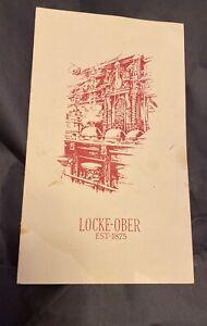 Locke-Ober Winter Place Boston Mass Wine and Beverage List