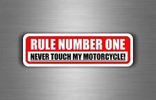 Sticker car motorcycle helmet decal chopper warning biker rule number one
