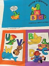 DEXTER THE DINOSAUR - LEARN ALL ABOUT LETTERS - FABRIC BOOK PANEL- VIP CRANSTON