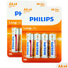 8 x Philips LongLife AA batteries Zinc Chloride 1.5V R6 MIGNON LR6 Pack of 4