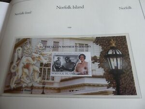 NORFOLK ISLAND 1999 MS716 QUEEN MOTHER CENTURY MNH