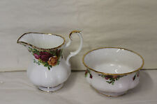 ROYAL ALBERT OLD COUNTRY ROSE MILK AND  SUGAR FOR A TEA SET 1st Quality