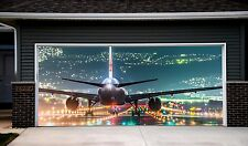 Garage Door Covers 3D Effect Banner Airplane Mural Full Color Aircraft  GD88