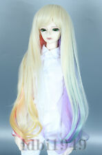 "6-7"" 1/6 BJD Wig Dal SD LUTS MSD DOD DD Dollfie Gradient Curly Doll Wig"