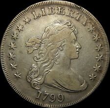 1799 Draped Bust Dollar, Early Date Collector Silver $