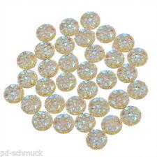 100 Harz Cabochons Charms Perlen Beads Klebeperlen Kuppeln  Gelb 9.5mm