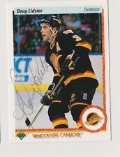 90/91 Upper Deck Doug Lidster Vancouver Canucks Autographed Hockey Card