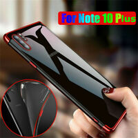 For Samsung Galaxy Note 10 S10 Plus Plating Silicone Clear Soft TPU Case Cover