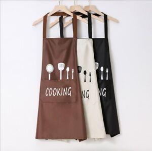 Xmas Cooking Apron  Washable Pocket Butcher Waiter Chef Kitchen Cooking Craft AU