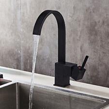 """12"""" Oil Rubbed Bronze Kitchen Bathroom Faucet Basin Sink Swivel Spout Mixer Tap"""