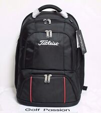 Titleist Essential Travel Gear Simple Backpack Black Polyester Bag Authentic