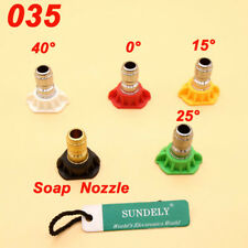 5Pcs High Pressure Washer Nozzles Tip Quick Disconnect GPM2.8 0°/15°/25°/40°/60°