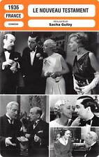 FICHE CINEMA : LE NOUVEAU TESTAMENT - Guitry,Delubac,Guitry 1936 Indiscretions