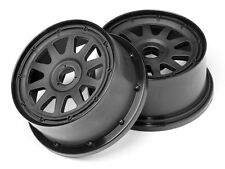 HPI 104975 TR-10 Baja 5SC Front Wheel (Black) (2) (120x60mm/-4mm Offset) Baja