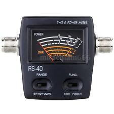 Digital SWR Wave Ratio Watt Power Meter for HAM Mobile VHF 200W 430-450MHz V6T3