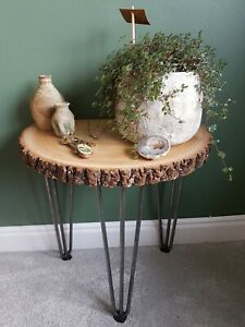 Rustic Wooden Side table / End table /Plant stand