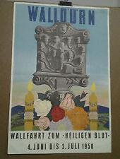 AFFICHE ANCIENNE WALLDURN WALLFAHRT ZUM HEILIGEN ALLEMAGNE GERMANY DEUTSCHLAND