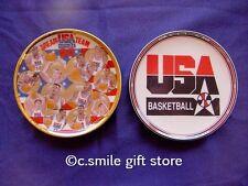 "Sports Impressions *DREAM TEAM & LOGO* Basketball 2 mini 4 1/4"" Plates Ret MIB"