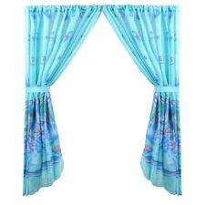 "Fabric Bathroom Window Curtain Set Scenic Ocean Design W/Holdbacks 34""x54"""
