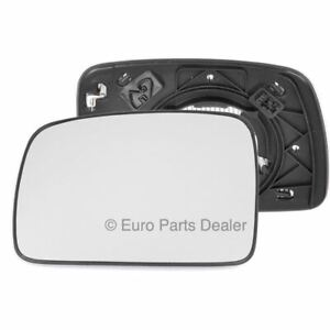 Left passenger side mirror glass with clip for Land Rover Freelander heat 06-10