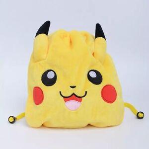 Yellow Pokémon Pikachu Drawstring Bag for Travel Makeup Money Lightweight