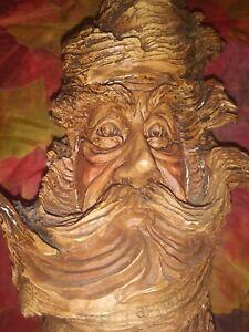 Vintage Stephen Herrero table sitter Knot Knoggins Faux Wood Wizard
