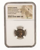Ancient Roman, Emporer Constantine II Coin, NGC (F)