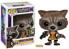 GUARDIANS OF THE GALAXY SDCC EXCLUSIVE FLOCKED ROCKET RACCOON VINYL FIGURE POP