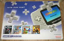 Nintendo GAME BOY Advance promo Poster 84x59cm Metroid Fusion Yoshi's Island