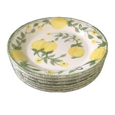 Bread & Butter 6 Plates Lemon Grove by Portmeirion Studio Made In Britain