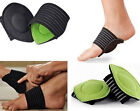 AUBU 2Pcs Elastic Soft Cushioned Arch Supports Relief for Achy Feet Foot Health