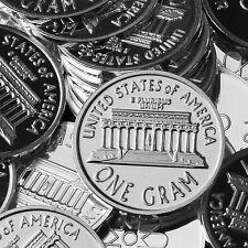 """Cent, Penny Back"" Design. Lot of 10, 1 gram .999 Fine silver bullion Coin. NEW"