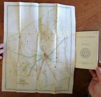 Worcester Massachusetts 1850 Howland city guide w/ 2 fldg maps illustrations
