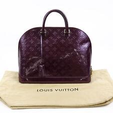 Louis Vuitton Purple Vernis Monogram Leather Alma Handbag