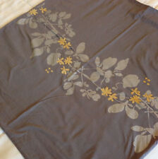 KAS Standard Pillowcase Sham set(2) Embroidered Cotton Sateen Steel Gray Floral