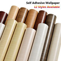New Self Adhesive Wood Grain Wallpaper Bedroom Stickers Background Home