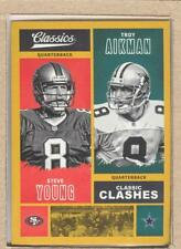 Steve Young CC-SYTA 2017 Panini Classics Classic Clashes Gold Troy Aikman