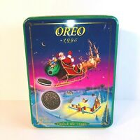 "Vintage 1995 Oreo ""Unlock the Magic"" Christmas Tin - Excellent Condition"