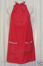 BEAUTIFUL SASS&BIDE RED PUSSY-BOW MINI SLEEVELESS DRESS 40/4 AUS 10