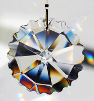 Scallop Round 50mm Austrian Crystal Clear Prism SunCatcher 2""