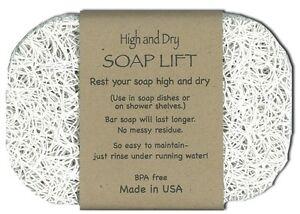 Soap Lift High Dry shower sink bathroom rest holder dish tray bar saver