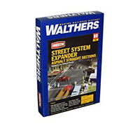Walthers 933-3155 Concrete Street System (8) HO Scale Train