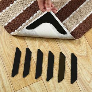 Anti Slip Rug Tape Washable Mat Stickers Carpet Rug Grip Gripper Reusable 8PCS