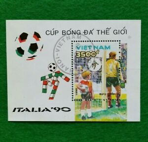 1990 Football World Cup - Italy Stamps Block Vietnam
