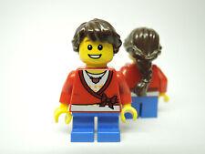 LEGO Figur  Mädchen roter Pullover Eistüte HOL127  NEU 60201
