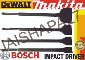 SDS + PLUS CHISEL 30mm 40mm 50mm 75mm FITS MAKITA HITACHI BOSCH MILWAUKEE DEWALT