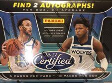 2020-21 20-21 PANINI CERTIFIED баскетбол Nba хобби запечатанная коробка